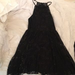 Black Sequined Homecoming Dress